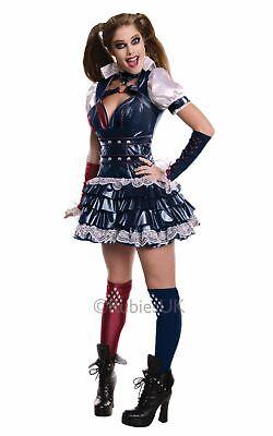 Womens Costume DC comics Marvel Superhero Fancy Dress outfit (Womens Harley Quinn Kostüm)