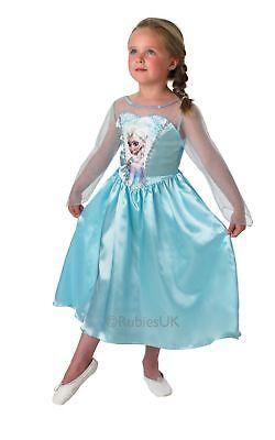 Mädchen Klassisch Elsa Schneekönigin Frozen Disney Prinzessin Kostüm (Frozen Elsa Schnee Königin Kostüm)