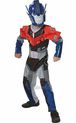 Transformers Deluxe Optimus Prime Deluxe Fancy Dress Childs Costume Outfit Kids