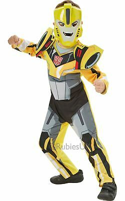 Transformers Bumble Bee Boys Fancy Dress Kids Childs Costume Party Outfit Licens - Bumble Bee Costume For Boys