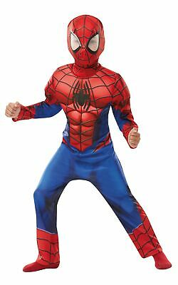 Boys Spiderman Costume Kids DC comics Marvel Fancy Dress Outfit Licensed Dressup - Spiderman Dress Up Outfit