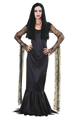 Adams Family Morticia Fancy Dress Costume Outfit Adult Womens Ladies UK - Morticia Outfit