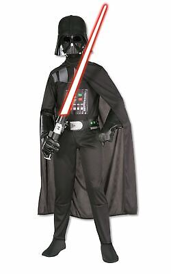 Child Darth Vader Costume Star Wars Boys Fancy Dress Outfit