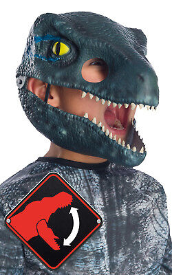 Halloween Dinosaur Velociraptor Blue with Movable Jaw Mask Fancy Dress Party - Jaw Mask