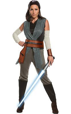 Rey Last Jedi Star Wars Disney Womens Fancy Dress Costume Outfit