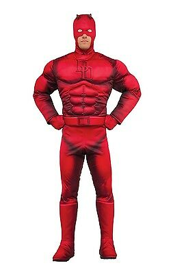 Official Deluxe Daredevil Superhero Fancy Dress Costume Outfit Size M-XL](Official Superhero Costumes)