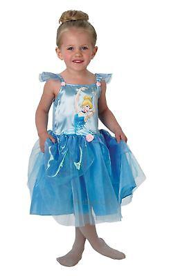 Mädchen Cinderella Ballerina Disney Prinzessin Tutu Kinder Kostüm Kleid Outfit (Mädchen Cinderella Ballerina Prinzessin Kostüme)
