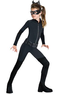 Girls Kids Childs Catwoman Fancy Dress Costume Outfit Rubies Batman Halloween