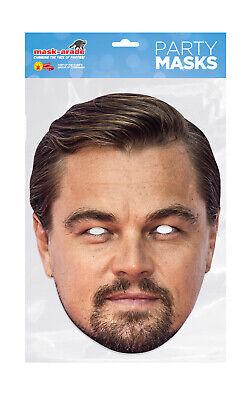 Leonardo Dicaprio Face Party Mask Card A4 Fancy Dress Actor TV Film Men Leo