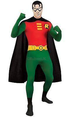 Herren Robin 2. Skin Hauteng Batman Superheld Kostüm Kleid (Hautenge Superhelden Kostüm)