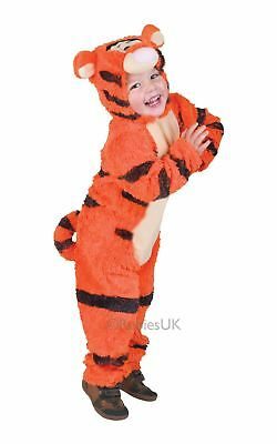 KIDS FURRY TIGGER TODDLER BABY WINNIE THE POOH DISNEY FANCY DRESS COSTUME OUTFIT