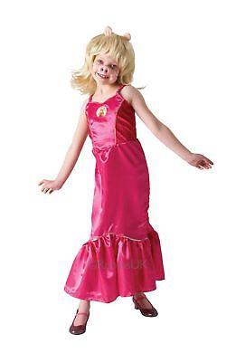 Mädchen Kinder Deluxe Miss Piggy Kostüm die Muppets Disney Pink Kostüm Outfit ()