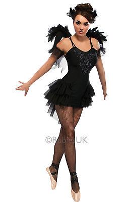 ladys  black swan ballerina stage film Halloween  costume fancy dress hen party  ()