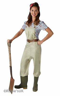 Land Girl Costume 1930s 1940s Ladies Uniform Fancy Dress Outfit Military World - Land Girl Costume