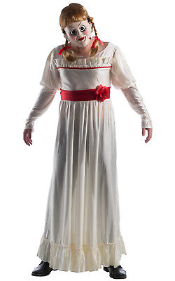 Ladies DELUXE ANNABELLE The Conjuring Halloween Doll Fancy Dress Costume Adult (Annabelle Doll Costume)