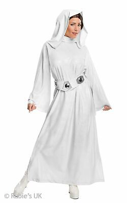 Leia Princess Womens Disney Star Wars Jedi  Fancy Dress Costume Outfit Licensed