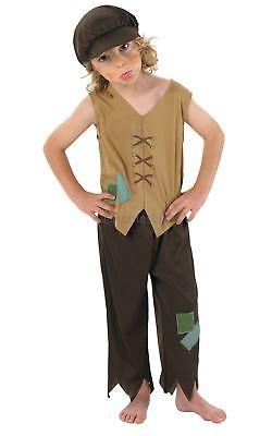 Jungen Viktorianisch Arm Bengel Kinder Oliver Twist Waisenkid Kostüm - Oliver Twist Kostüm