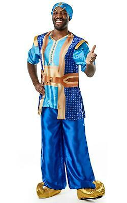 Genie Aladdin Disney Costume Men`s Fancy Dress Outfit Licensed Rubies Dressup