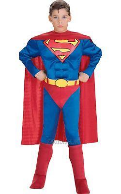 Jungen Luxus Superman Superheld Muskel Brust Comics Dc Kostüm Kleid Outfit