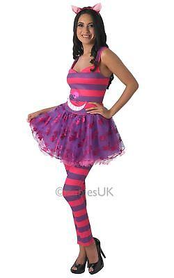 Erwachsene Damen Grinsekatze Kostüm Alice Im Wunderland Kitty Kostüm (Alice Kostüme Erwachsene)