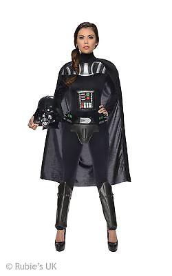 Vader Damen Overall Kostüm Rüstung Umhang Helm Kostüm (Darth Vader Helm Kostüm)