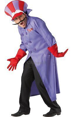 Herren Dickes Dastardly 60er Jahre Tv-Show Cartoon Verrückte - Rote Bösewicht Kostüme