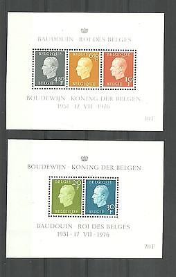 Belgique:  blok 50/51**  Koning Boudewijn I