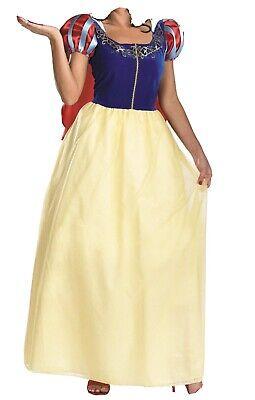 Disney Snow White Princess Deluxe Costume Adult Halloween Dress Size S-M (used)