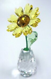 SUNFLOWER - FLOWER DREAMS - BEAUTIFUL YELLOW 2017 SWAROVSKI CRYSTAL  5254311