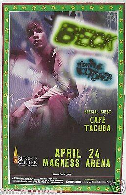 """BECK """"MIDNIGHT VULTURES TOUR"""" 2000 UNIVERSITY OF DENVER CONCERT POSTER"""
