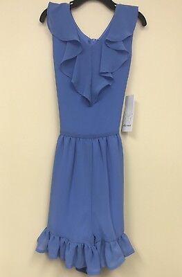 Ella Moss Girls' Dress-Romper in Blue -  multiple sizes                      A-2 (Girls In A Dress)