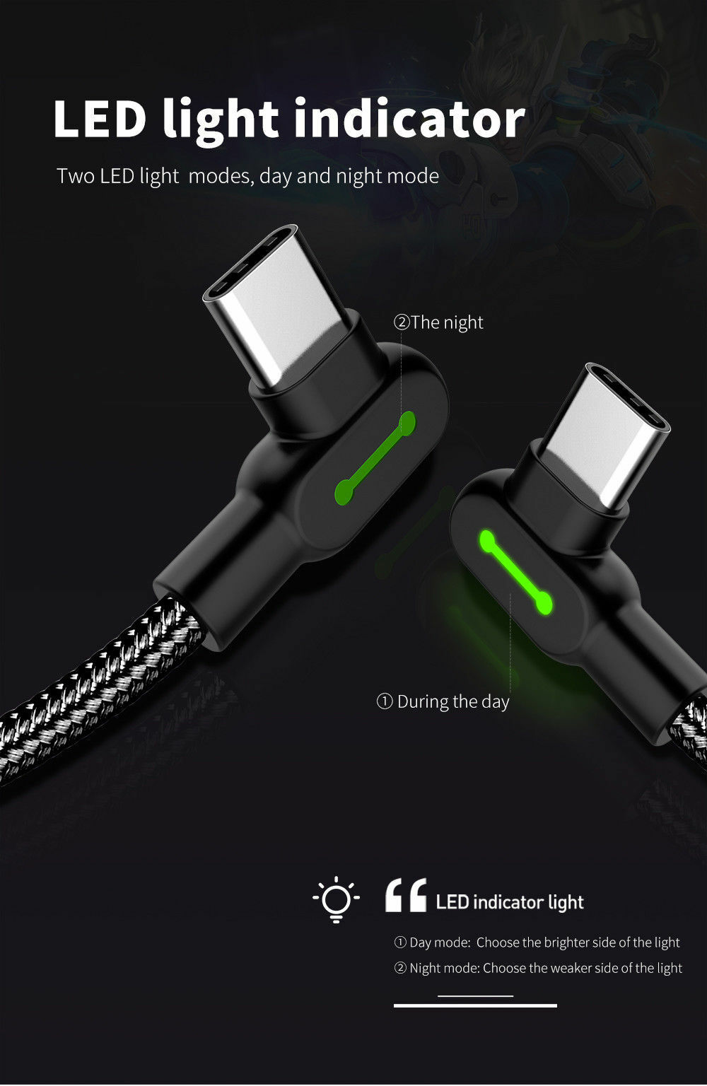 Details About Mcdodo Fast Charging Led Usb Type C Nylon Braided Data Sync Charger Cable Cord Equipment Indicator Using Two Descriptions