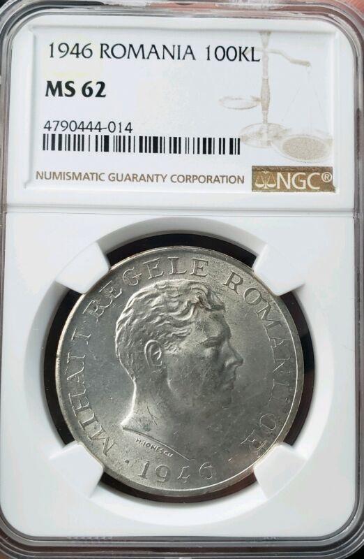 1946 100.000 Lei Romania.NGC MS62