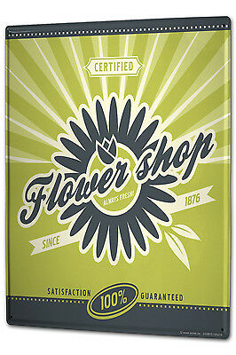 Tin Sign XXL Fun Ravtive Flower shop metal plate (Flower Shop Tin)