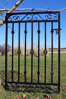 Metal Rectangle Donovan Gate - Stylish Garden or Fencing Wrought Iron Entry Gate