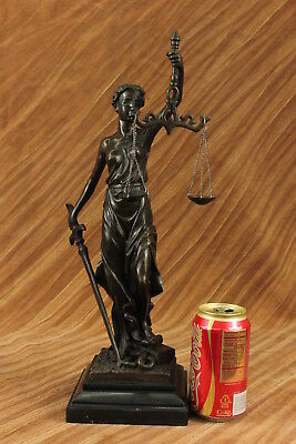 Blind Justice (Blind Justice by Mayer Solid Bronze Collectible Sculpture Statue - Fast)