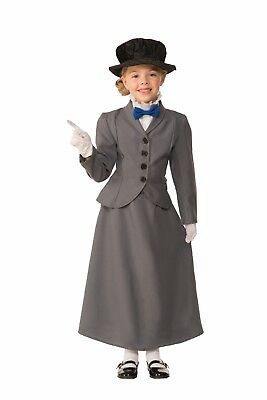 English Nanny Girls Costume Victorian Character Dark Grey Mary Poppins Style (Mary Poppins Characters Costumes)