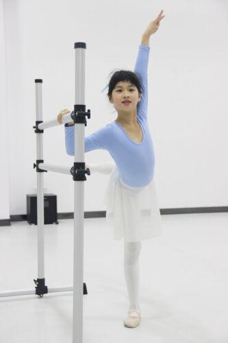 Portable Double Ballet Barre Stretching Dance Bar Gymnastics Freestanding 3-6 FT