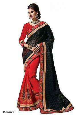 BOLLYWOOD SAREE PARTY WEAR INDIAN DESIGNER ETHNIC PAKISTANI BRIDAL WEDDING SARI