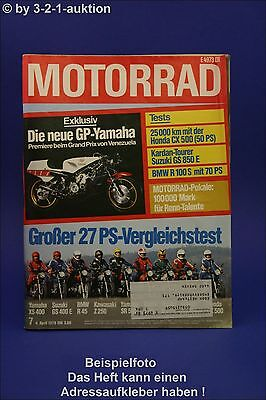 Motorrad 7/79 Honda Kawasaki Yamaha Suzuki GS 850