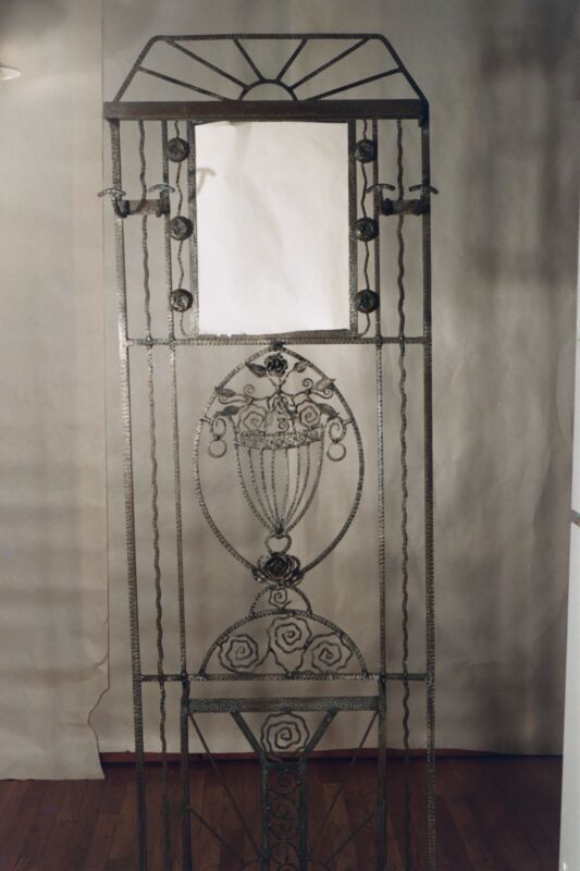 Art Deco Wrought Iron Hall Tree
