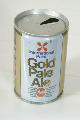International Paint Gold Pale Ale Beer Can - 9 2/3oz Top Open