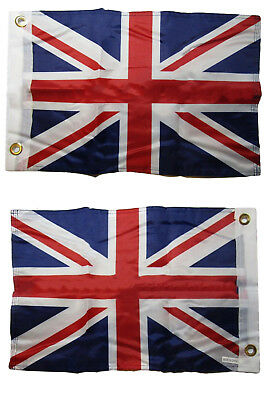 """12x18 UK United Kingdom British Country 2ply Double Sided 12""""x18"""" Flag Grommets"""