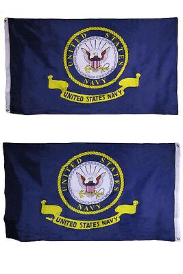 3x5 U.S. Navy Emblem Heavy Duty Polyester Nylon 200D Double Sided Flag (RAM)
