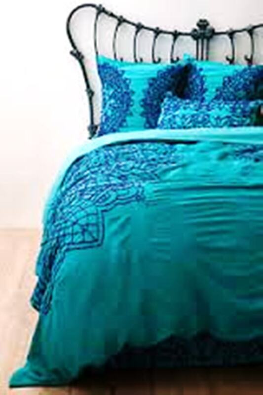 Anthropologie Duvet Cover Pattern: Solea Stunning Turquoise!  Retail: $368 Queen
