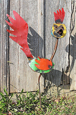"""32"""" Recycled Metal Roadrunner Decorative Lawn Decor"""