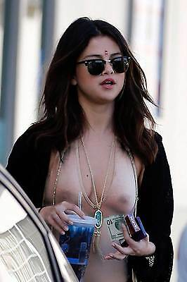 Selena Gomez Transparent Shirt 8X10 Picture Celebrity Print