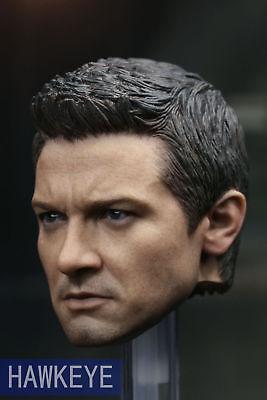 1:6 Civil War Hawkeye Avengers Jeremy Renner Head Sculpt Fit 12