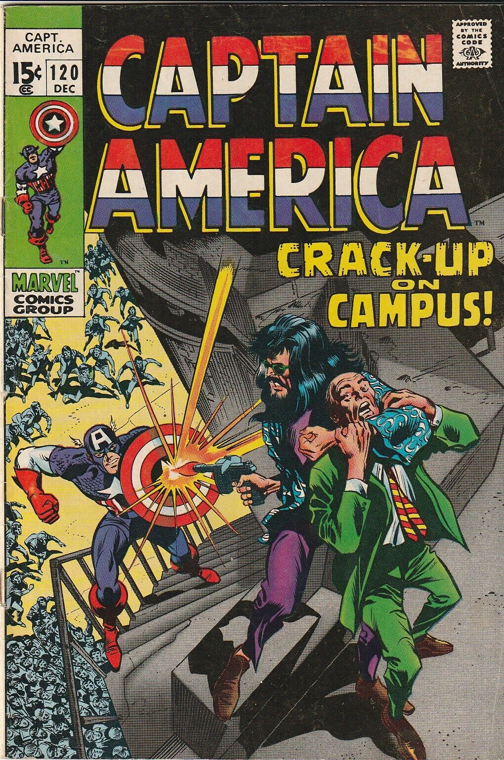 Captain America 120 - Aug.1969 - 8.0 VF / One Owner Comic / Free Shipping - $99.99