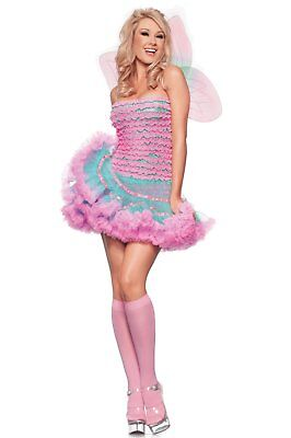 NWT sexy BE WICKED rainbow FAIRY pixie SPRITE nymph FAIRYTALE halloween COSTUME - Wicked Fairy Halloween Costumes